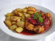 ActiFry piersi z kurczaka z truskawkowym sosem