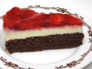 Truskawkowy lodowy deser