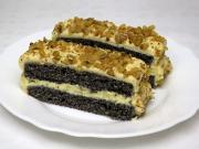 Makowe kremowe ciasto