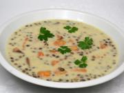 Śmietanowa zupa z soczewicą i batatami