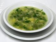 Groszkowa zupa z kruszonką