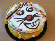 Wesoły wielkanocny tort Zajączek
