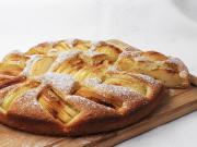 Pozapadane jabłkowe ciasto